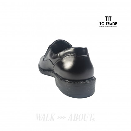 WALK ABOUT® Slip-on Shoes with Genuine Smooth Cow Leather (3801 Black 06)