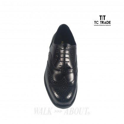 WALK ABOUT® Brogue Shoes with Genuine Smooth Cow Leather (3809 Black 06)