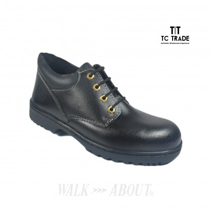 WALK ABOUT® Lace-up Safety shoes with Buffalo leather (6911 Black 03 SB P HRO)